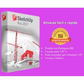 Sketchup Pro 2017 Português 64 Bits P/ 3 Pcs Direto Do Site