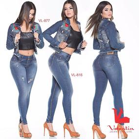Blusa Jaqueta Jeans Femenina Camisa Marca Valentim De Luxo