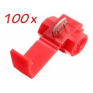 100pçs Conector Derivação Emenda Fios Vermelho 0,5 A 1,5mm