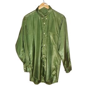 Camisa De Seda Verde Oliva Unisex Seminova