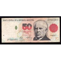 Billete Argentina 50 Pesos Convertibles Bottero 3062a Clara
