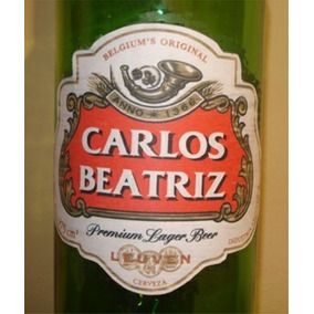 Souvenir De Cumpleaños: Cerveza Stella Artois Con Nombre