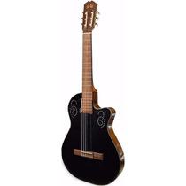 Guitarra La Alpujarra Mod 300kec Negra Eq Artec C/funda