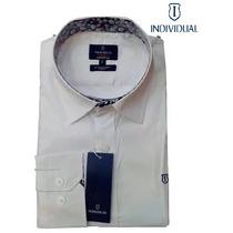 Camisa Social Individual (slim Fit, Lisa) Branca + Frete Gra