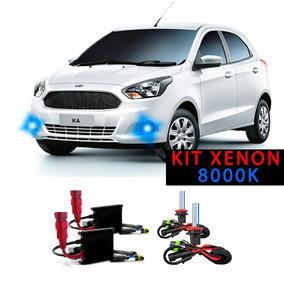 Kit Xenon H11 8000k Para Farol Milha Ford Ka 2014 A 2017
