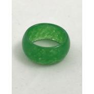 Anel Jade  Verde Unissex 8 Mm  Largura Nº  21