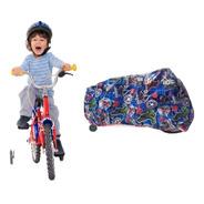 Funda Cubre Bicicleta Estampado Infantiles Hasta Rodado 20