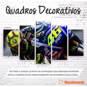 Quadro Decorativo Piloto Moto Gp The Doctor 46 1,60x0,80 5m