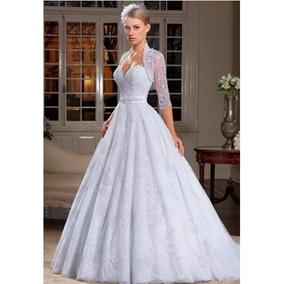 Vestido De Noiva Center Noivas Off White - Muito Barato