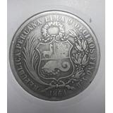 1 Sol 1864 Y.b Perú Plata 9 Décimos (escasa)