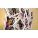 Presente Porta Retratos Mosaico 8 Poses 57x39cm- Branco