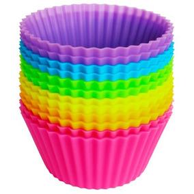 10 Moldes De Silicón Para Cupcake Capacillo Muffin Panque
