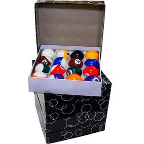 Kit Jogo Bola De Billhar Snooker 16 Bolas 52mm Sinuca
