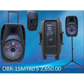 Bafle Amplificado Orbix 15 Pulgadas 7600w Recargable Tripie
