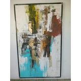 Cuadro Pintura Azul Abstracto Decoracion Arte