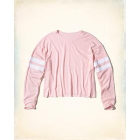 Camiseta Hollister Feminina Blusas Abercrombie Moletons Gap