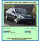 Manual De Taller Reparación Diagramas Honda Accord 2003-2007