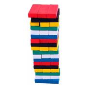 Jogo Torre Do Equilíbrio Madeira Colorido Brinquedo Jenga