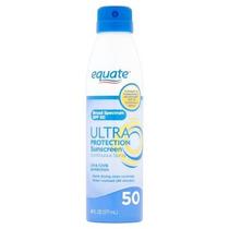 Protetor Solar Spray Equate Fator 50 - 177ml - Importado