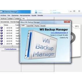 Wii Backup Manager 32/64 Bits En Español / Programa En Dvd