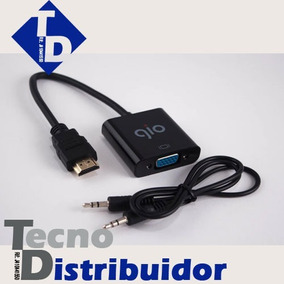Convertidor Hdmi A Vga Marca Gio. Con Cable De Audio Td