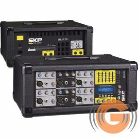 Mesa De Som Amplificada Skp Crx 620 Cabeçote Usb - Goias