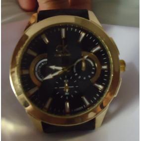 Relógio Scuba Boss C K Preto Pulseira Couro Preta