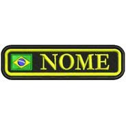 Nome Personalizado Brasil Patch Bordado Envio Imediato