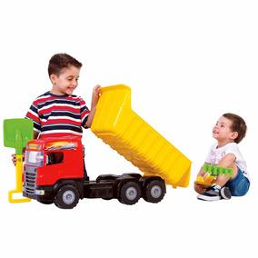 Brinquedo Menino Caminhão Caçamba Grande 79cm Infantil