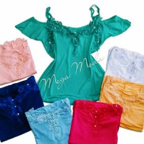 Blusa Feminina Manga Curta Ciganinha Camiseta Menor Preço