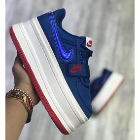 e4533b338b Zapatillas Con Plataforma Importadas De - Tenis Nike para Mujer Azul ...