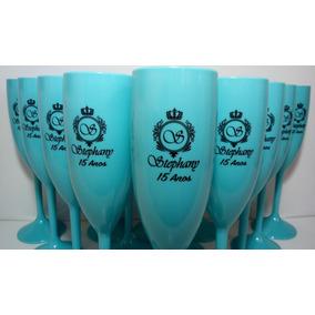 Kit 32 Taças Personalizadas Aniversário 15 Anos Azul Tiffany