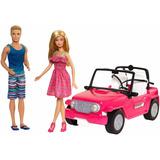 Carro De Playa Jeep Barbie Incluye Barbie Y Ken