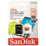 Cartão De Memoria Ultra Classe 10 Sandisk 32gb 80mb/s Origin