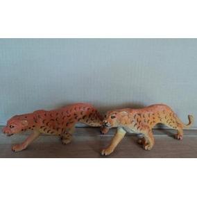 Brinquedos Tigre Tigreza Lote C/ 2 Animais Africanos (g15)