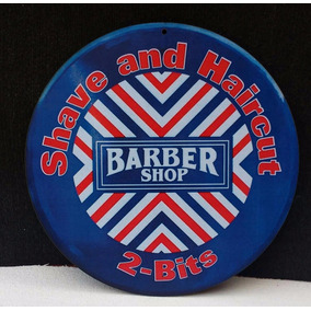 Placa Decorativa Barber Shop Barbeiro Emblema
