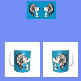 Taza Blanca Snoopy Apache Penacho