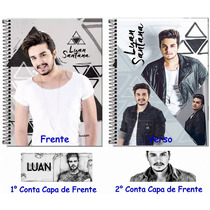 Caderno Personalizado Luan Santana 10 Matérias 200 Folhas