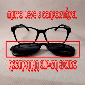 Óculos De Grau Estilo Chilli Beans Redondo Clipon 2x1 Preto