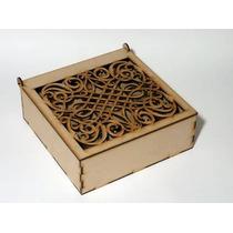 Caja De Té Fibrofacil Hermosa Calada 9 Divisiones X Unidad