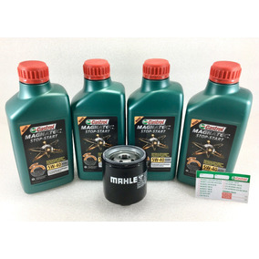 Oleo Castrol Gol G2 G3 G4 G5 5w40 502 00 + Filtro Metal Leve