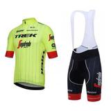 Uniforme Ciclismo Trek Tr 2018 Jersey + Short Bib Bici, Ruta