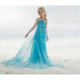 Vestido Disfraz Frozen Elsa Importado Más Cd De Regalo !!