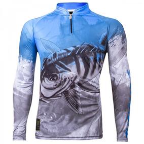 Camisa Manga Longa King Brasil Viking06- Tucunaré - Pesca Uv