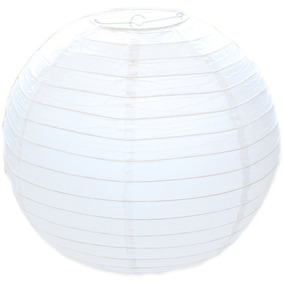 Lampara China Blanca Pantalla 25 Cm Color Fiesta Boda