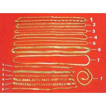 Kit 14 Semi-jóias Correntes E Pulseiras Aço Folheado À Ouro