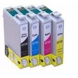 Pack X4 Cartuchos Alternativos Para Epson T25 Tx125 Tx135