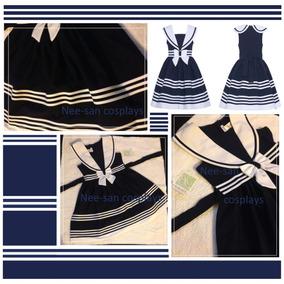 Vestido Marinero Importado De Usa Cosplay Sailorfuku Talle S
