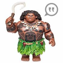 Boneco Maui Moana Fala Acende Canta Original Disney Store