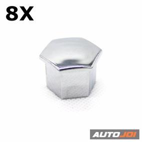 Capa Parafuso Roda Cromada Peugeot Citroen - Jogo 8 Peças